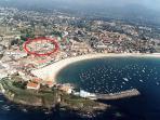 Localización de la urbanización en el pueblo