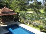 View of the Pool and Sala from Master Bedroom