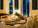 Romantic dining at Palm View villa