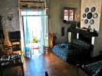 soggiorno e camino - living and fireplace