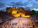 Edinburgh Military Tattoo ... the castle is 5 minutes from the apartment