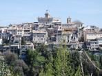 The old village of 'Haut de Cagnes' with the Grimaldi Castle on the top