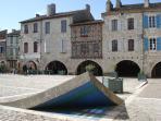 Lauzerte - medieval village square