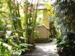 front view of garden