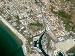 View of Terracina from the air