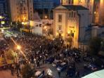 Chiesa dei panettieri la sera del Venerdì Santo (Piazza G. Vanni) vista dal balcone