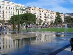 Nice's new water feature park. Cool down on a hot day, and then go for lunch in the Old Town