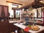 Fully equipped island style kitchen