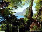 View through the park on  Lake Lugano