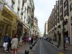 The Rue d'Antibes, the main shopping street in Cannes