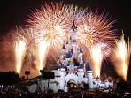 A direct  view of the Disneyland fireworks every night from the parents' bedroom