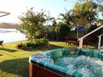 Sundowners in your therapeutic spa