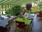 breakfast and dinner terrace