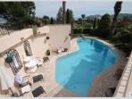 Children in the pool can be supervised from many parts of the villa.