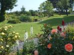 Pretty flower borders and sitting areas for you to relax and enjoy the peace and quiet