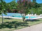 Boules Pitch and Swimming Pool