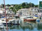 the lovely Padstow approx 30 minutes drive away