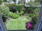 View of garden from apartment