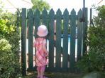 Gated, fenced pool