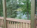 Hear the sounds of the river from the deck