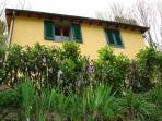 Casa Isabella exterior, with irises
