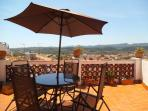 Our terrace with views to the mountain and barbaque