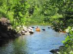 River Cottage, watch paddlers from your yard!