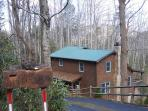 Bearadise is an adorable cabin with a hot tub located off Shulls Mill Road