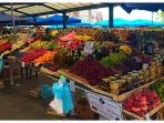 Fruit market is also just around the corner from our flat.