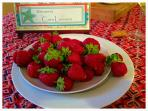 Local strawberries from the fruit market.