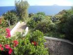 Front garden with view of Panarea & Stromboli in the background