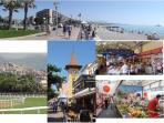 Vues, plages, hippodrome, Cros, marchés de producteurs locaux