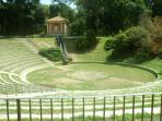 Amphitheatre where you can listen to a concert in summer time