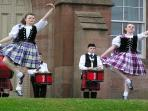 Highland dancers at the Castle