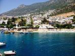 Kalkan town, beach and harbour