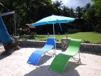 Lots of sunloungers available for our private guests.