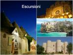 These destinations are easy to reach from Ostuni: Alberobello, Lecce, Polignano, Castel del Monte
