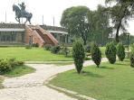 Historic Rai Pithoragarh Park behind apt
