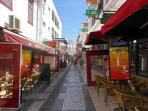 The bustling streets of Albufeira Old Town