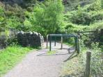 Taff Trail Path - Connection at Nantgarw (2 mins from house)
