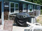Slider located off dining area opens to a large back deck.