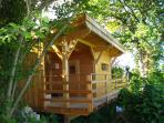 Sauna avec espace détente