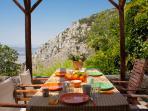 terrace area   breakfast in the countryside :-)
