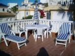 View of the Cul-de-Sac from the Solarium - Sunbeds including. 2 Portable Ones for the Beach & BB