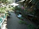 Giardino privato affittacamere a Rizza.
