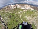 Veduta aerea di Castel San Pietro Romano