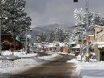Sudderth Drive in Midtown Ruidoso. Gorgeous in the snow, and just a short drive from the home.