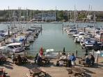 East Cowes Marina/Lifeboat pub resturant a few minutes walk