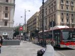 Metro stop 'UNIVERSITA'' and  bus stop in Piazza Giovanni Bovio