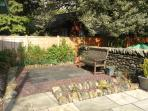 Deepdale's sunny garden patio